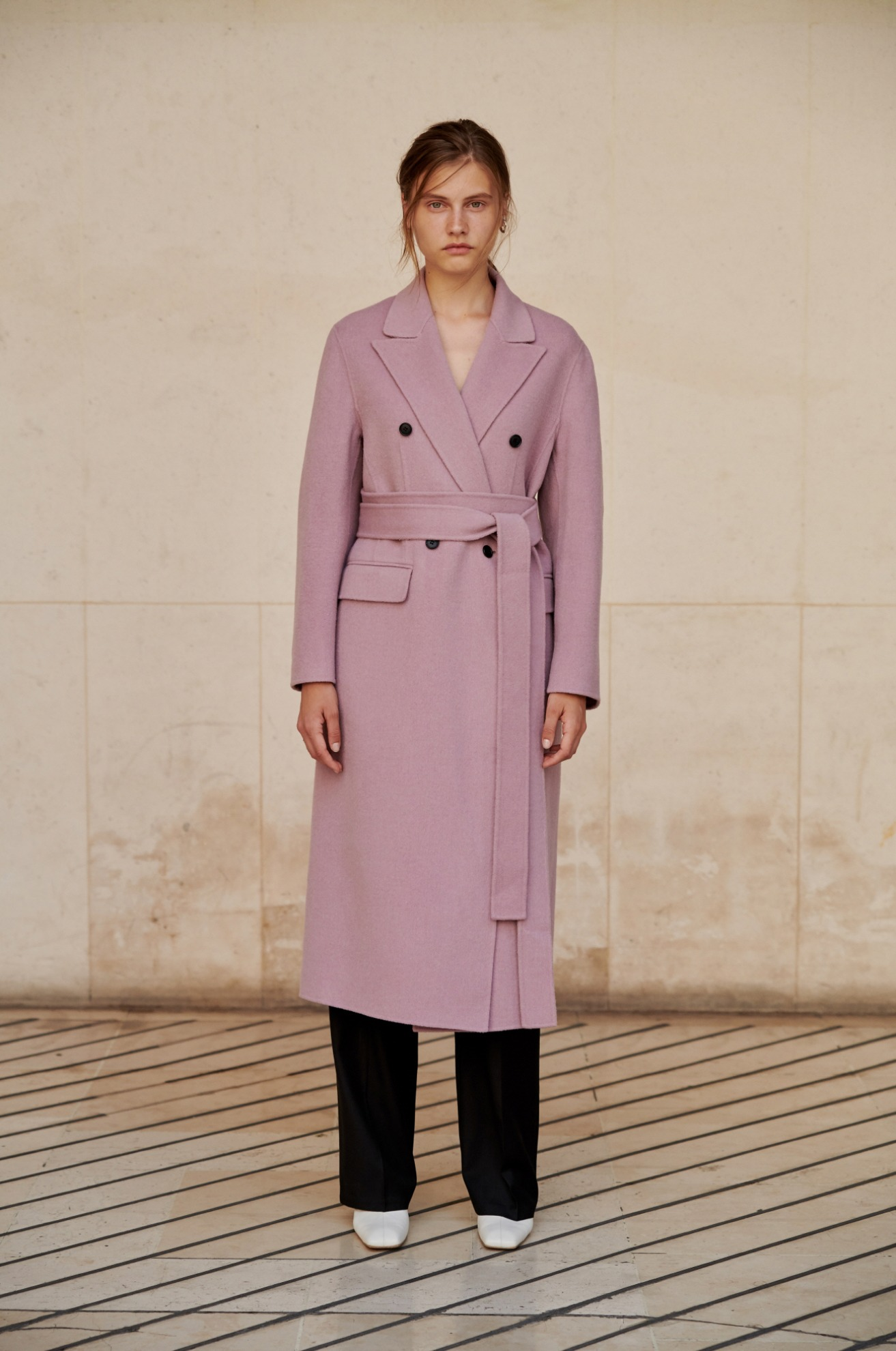 double faced wool hand made coat